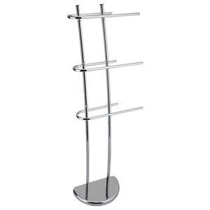 Scant Metal 3-Rung Towel Rail/Drying Rack, Silver