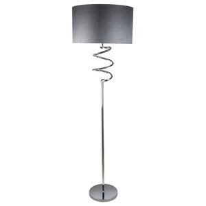 Kasi Floor Lamp, Polished Chrome