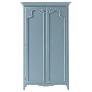 Wardrobe With 2 Hinged Doors, Light Blue