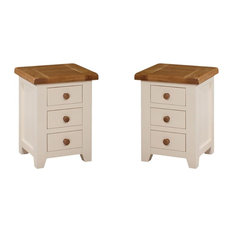 Julia 3-Drawer Bedside Tables, Set of 2