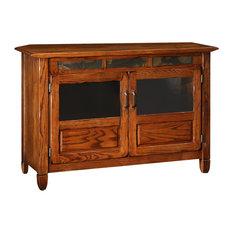 """Leick Furniture 46"""" TV Stand in a Distressed Rustic Oak Finish"""