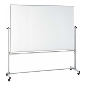 "Offex Mobile Dry Erase Magnetic Double-Sided White Board - 72""W x 48""H, 1 Pack"