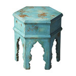 Doug And Cristy Designs Breck Side Table Blue View In