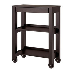 Altra Furniture   Wide Storage Cart, Espresso Finish   Office Carts And  Stands