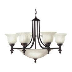 Dolan Designs Richland 6+3 Light Bowl Chandelier Royal Bronze
