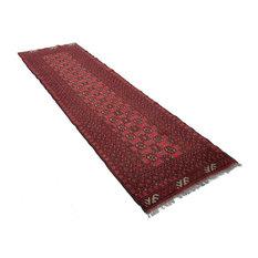 Basim Afghan Rug, 78x280 Cm