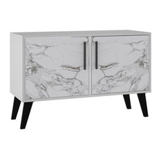 Amsterdam Double Side Table 2.0, White Marble