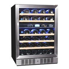 NewAir AWR-460DB 46 Bottle Dual Zone Built-In Compressor Wine Cooler