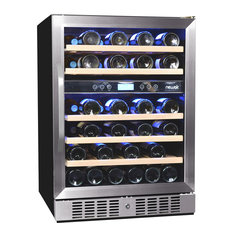 NewAir - NewAir AWR-460DB 46 Bottle Dual Zone Built-In Compressor Wine Cooler - Beer and Wine Refrigerators