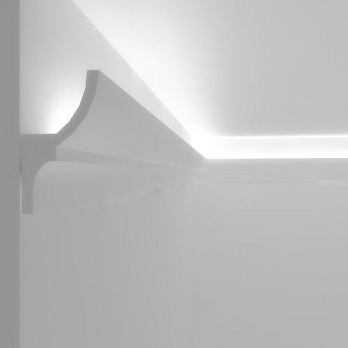 Cornice veletta per illuminazione indiretta led soffitto for Cornici per strisce led