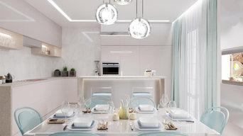 Дом 140кв.м. для взрослой пары в современном стиле с элеменами хай-тек