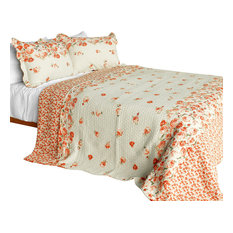 Newlyweds2 Cotton 3PC Vermicelli-Quilted Printed Quilt Set (Full/Queen Size)