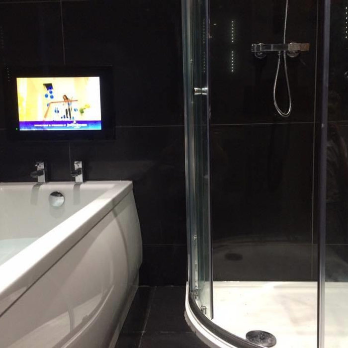 Bathroom with Entertainment System