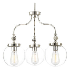 Progress Lighting Penn 3-Light Chandelier, Polished Nickel