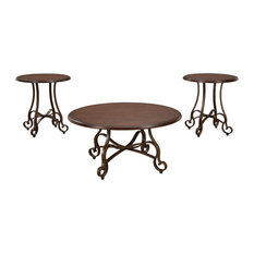 Carshaw Brown Occasional Table Set Of 3