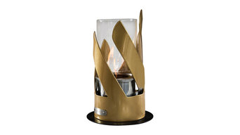 Olympo Tabletop Fireplace, Gold