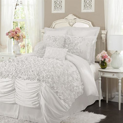 Popular Contemporary Comforters And Comforter Sets Lucia Piece White Comforter Set California King