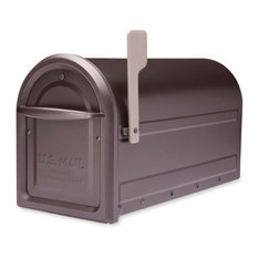 Mapleton Post-Mount Mailbox, Rubbed Bronze