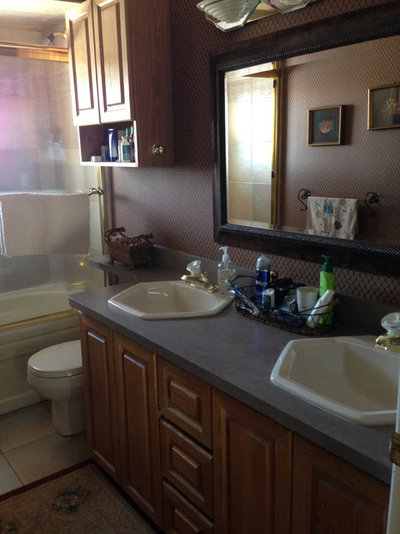 small bathroom makeovers. ROTD: Laura Hay Small Bathroom Makeovers D