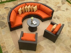 Curved Sofa Sectional Outdoor   Patio Furniture And Outdoor Furniture