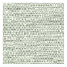 Fresh Spring Green Faux Grasscloth Wallpaper, Sample