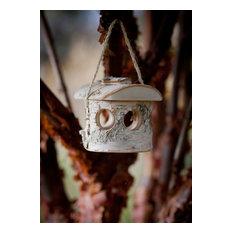 Northern Birch Garden Wooden Bird Feeder