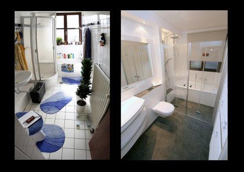 Badezimmer vorher / nachher