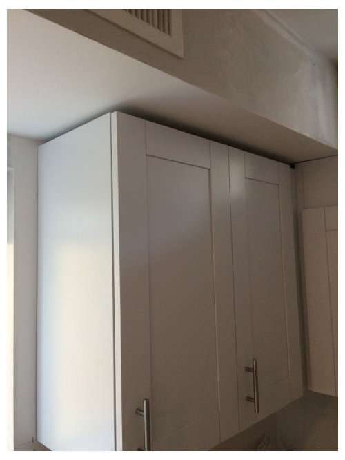 Where these kitchen cabinets installed incorrectly?