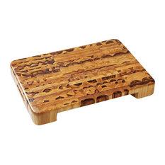 "Proteak End Grain Cut-Out Cutting Board, 20X14X2.5"""