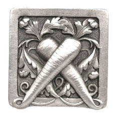 Leafy Carrot Knob Antique Pewter