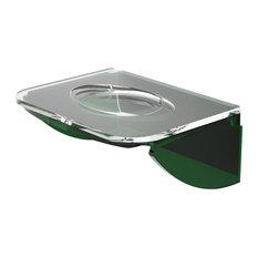 Dea Wall-Mounted Translucent Soap Dish, Green