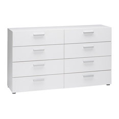 Tvilum Austin 8-Drawer Double Dresser, White