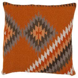Unique Southwestern Decorative Pillows Surya Beth Lacefield Kilim Tranquil Tribal Pillow