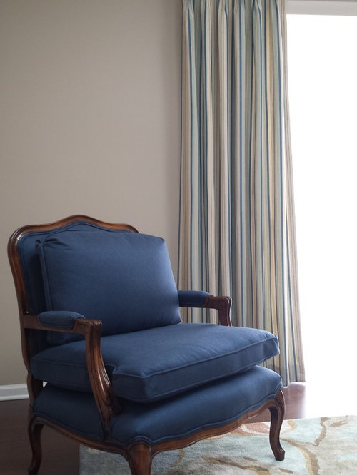 Blue Upholstered Chair - Upholstered Benches
