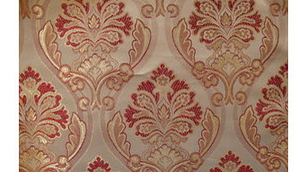 * 5 Meter * Zagreb Red Floral Jacquard Curtain Fabric upholstery Material