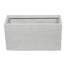 Premium Aufora Rectangular Planter Box, Resin, Small, 27x51x20 cm