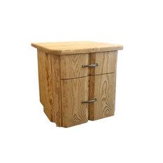 Rustic 2-Drawer Bedside Table, Light Brown