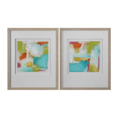 Color Space Watercolor Prints, 2-Piece Set