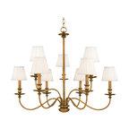 Hudson Valley Lighting 4039-AGB Menlo Park Aged Brass 9-Light Chandelier