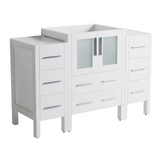 "Torino 48"" Modern Bathroom Cabinet, Cabinet Base Only, Base: White"
