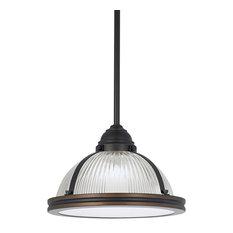 Sea Gull Lighting - Pratt Street Prismatic 1-Light Pendants Autumn Bronze - Pendant  sc 1 st  Houzz & Prismatic Pendant Lighting | Houzz azcodes.com