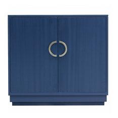 Facets Modern 36-inch Two-Door Cabinet Indigo by Kindel