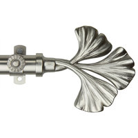 Florence 13/16 inch dia. Curtain Rod, Satin Nickel, 66-120""