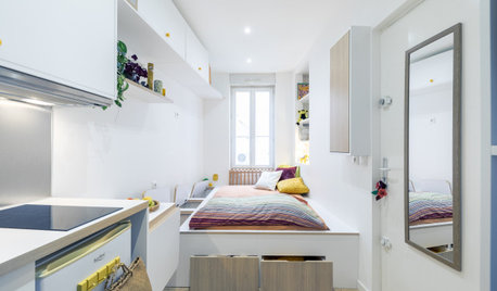 Houzz Tour: A Tiny Flat With Not a Single Right Angle