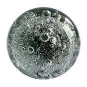 Stunning Grey Glass Drawer Knob With bubbles