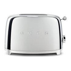 Smeg 50's Retro Style Two Slice Toaster, Chrome