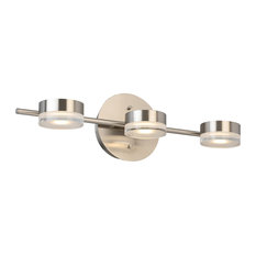 Crashville 3-Light LED Bath/Vanity, Brushed Nickel, Frosted Clear Acrylic Shade