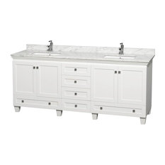 Double Bathroom Vanity With Square Sink