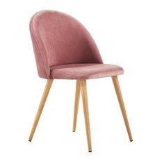 Lucia Velvet Chair, Light Pink