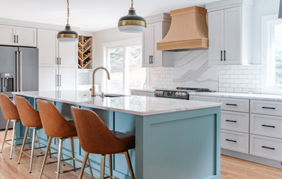 Kitchen of the Week: Bigger and Better With Light Gray Cabinets
